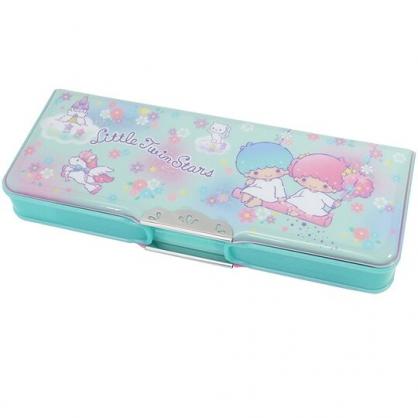 〔小禮堂〕雙子星 雙開多功能鉛筆盒《綠粉.盪鞦韆》筆袋.學童文具