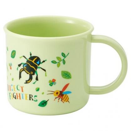 〔小禮堂〕昆蟲 日製單耳塑膠小水杯《綠.螳螂》200ml.漱口杯.茶杯