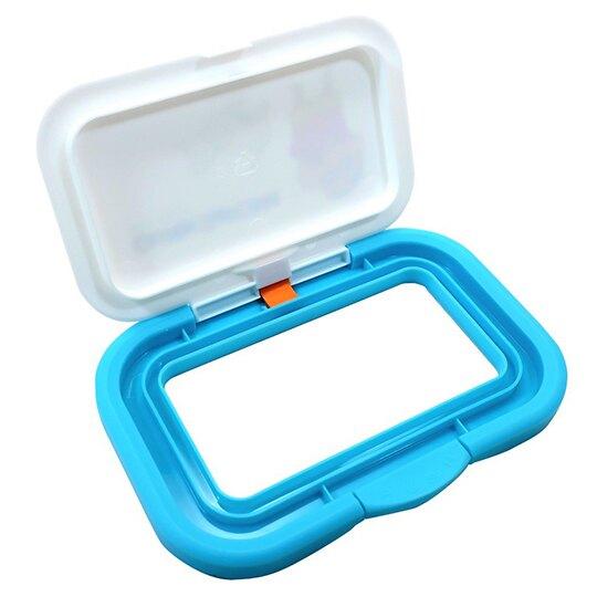 〔小禮堂〕蠟筆小新 日製塑膠方形濕紙巾蓋《藍白.小白》濕巾盒蓋.密封蓋