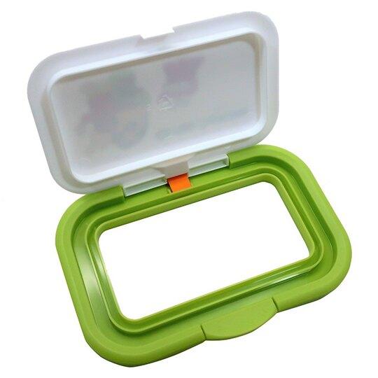 〔小禮堂〕蠟筆小新 日製塑膠方形濕紙巾蓋《白綠.鱷魚》濕巾盒蓋.密封蓋