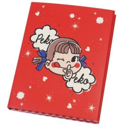 〔小禮堂〕不二家PEKO 方形多折自黏便利貼本《紅米.大臉》N次貼.書籤貼.標籤貼