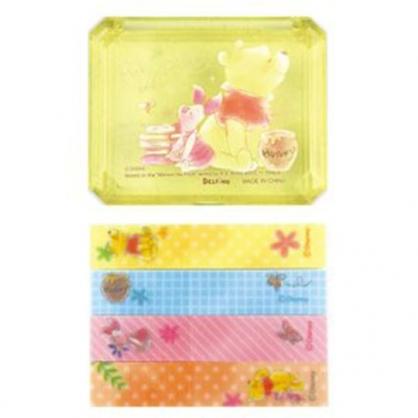 〔小禮堂〕迪士尼 小熊維尼 自黏便利貼附收納盒《黃.蜂蜜罐》N次貼.書籤貼.標籤貼