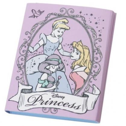 〔小禮堂〕迪士尼 公主 方形多折自黏便利貼本《紫白.邊框》N次貼.書籤貼.標籤貼