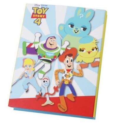 〔小禮堂〕迪士尼 玩具總動員4 方形多折自黏便利貼本《藍白.奔跑》N次貼.書籤貼.標籤貼