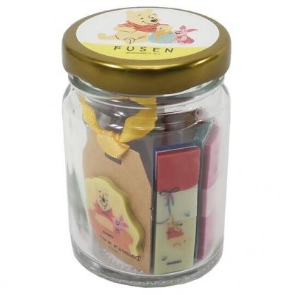〔小禮堂〕迪士尼 小熊維尼 造型自黏便利貼組附收納罐《金黃.蜂蜜罐》N次貼.書籤貼.置物罐