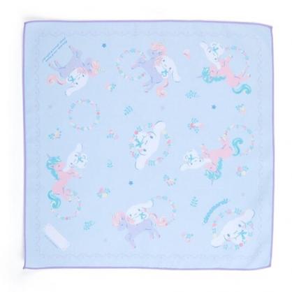 〔小禮堂〕大耳狗 棉質便當包巾《淡藍》43x43cm.手帕.餐巾.彩虹獨角獸系列
