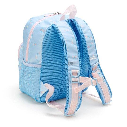 〔小禮堂〕大耳狗 兒童尼龍三層拉鍊後背包《淡藍》雙肩包.書包.彩虹獨角獸系列