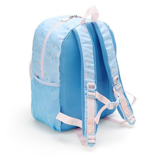 〔小禮堂〕大耳狗 尼龍三層拉鍊後背包《淡藍》雙肩包.書包.彩虹獨角獸系列