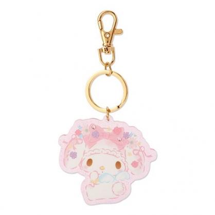〔小禮堂〕美樂蒂 全身造型水鑽壓克力鑰匙圈《粉》掛飾.吊飾.生日蝴蝶結系列