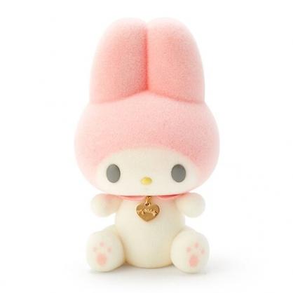 〔小禮堂〕美樂蒂 盒裝植絨玩偶娃娃《S.粉白》擺飾.玩具.生日蝴蝶結系列