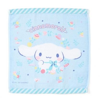 〔小禮堂〕大耳狗 純棉割絨方形毛巾《淡藍》34x35cm.方巾.彩虹獨角獸系列
