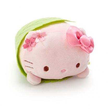 〔小禮堂〕Hello Kitty 迷你和?子絨毛玩偶娃娃《粉綠.櫻花》擺飾.玩具