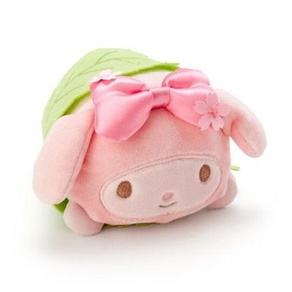 〔小禮堂〕美樂蒂 迷你和?子絨毛玩偶娃娃《粉綠.櫻花》擺飾.玩具