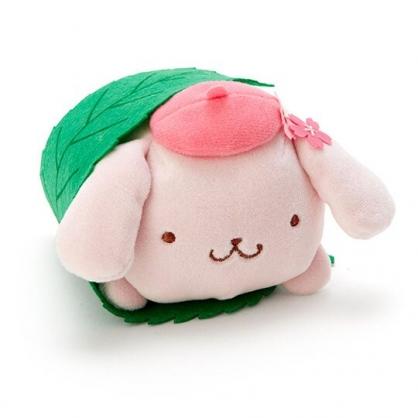 〔小禮堂〕布丁狗 迷你和?子絨毛玩偶娃娃《粉綠.櫻花》擺飾.玩具