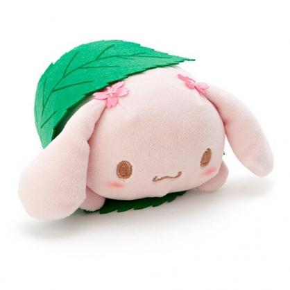 〔小禮堂〕大耳狗 迷你和?子絨毛玩偶娃娃《粉綠.櫻花》擺飾.玩具