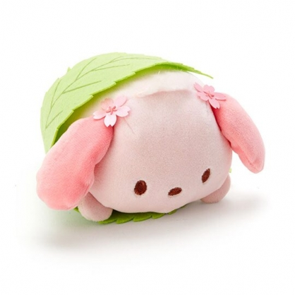 〔小禮堂〕帕恰狗 迷你和?子絨毛玩偶娃娃《粉綠.櫻花》擺飾.玩具