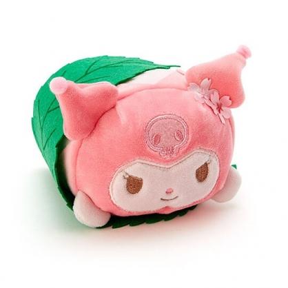 〔小禮堂〕酷洛米 迷你和?子絨毛玩偶娃娃《粉綠.櫻花》擺飾.玩具