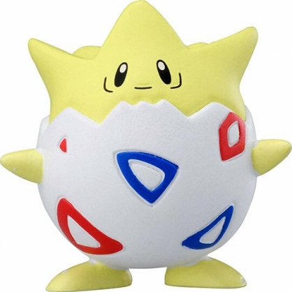〔小禮堂〕神奇寶貝Pokemon 波克比 迷你塑膠公仔玩具《黃》寶可夢公仔.模型