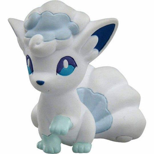 〔小禮堂〕神奇寶貝Pokemon 六尾 迷你塑膠公仔玩具《白》寶可夢公仔.模型