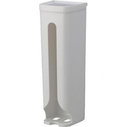 〔小禮堂〕日本INOMATA 日製直式抽取式塑膠袋收納架《白》塑膠袋收納盒.置物架