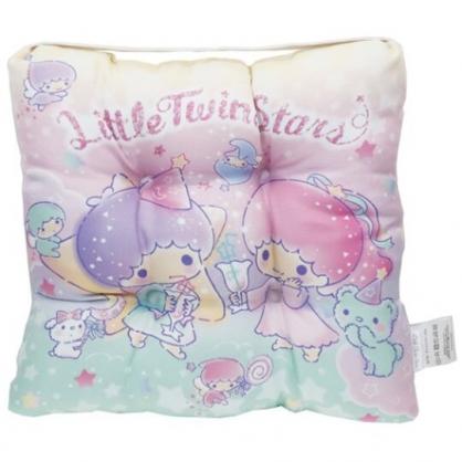 〔小禮堂〕雙子星 方形束帶棉質椅墊《粉綠.冰沙杯》30x30cm.座靠墊.坐墊