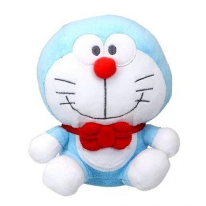 〔小禮堂〕哆啦A夢 x Hello Kitty 絨毛玩偶娃娃《S.藍白》擺飾.玩具