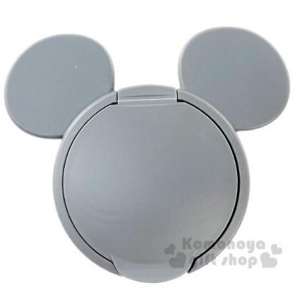 〔小禮堂〕迪士尼 米奇 日製大臉造型塑膠濕紙巾蓋《灰》濕巾盒蓋.密封蓋