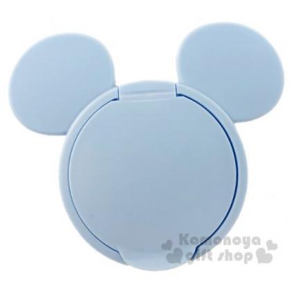 〔小禮堂〕迪士尼 米奇 日製大臉造型塑膠濕紙巾蓋《藍》濕巾盒蓋.密封蓋