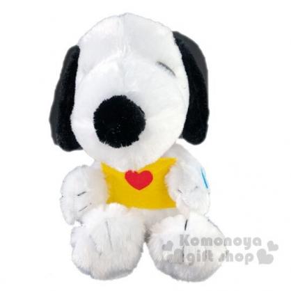 〔小禮堂〕史努比 錄音絨毛玩偶娃娃《S.黑白.黃信封》玩具.擺飾.說話娃娃