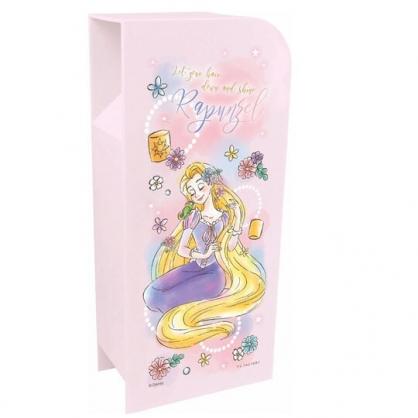 〔小禮堂〕迪士尼 長髮公主 桌上型四層直式收納盒《紫.閉眼》置物盒.筆筒.刷具筒