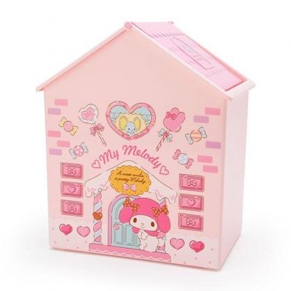 〔小禮堂〕美樂蒂 房屋造型塑膠平衡蓋收納箱《粉白》垃圾筒.置物箱