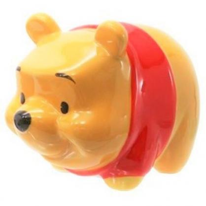 〔小禮堂〕迪士尼 小熊維尼 全身造型陶瓷存錢筒《黃》擺飾.撲滿.儲金筒