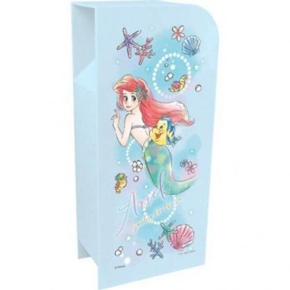 〔小禮堂〕迪士尼 小美人魚 桌上型四層直式收納盒《藍.轉身》置物盒.筆筒.刷具筒