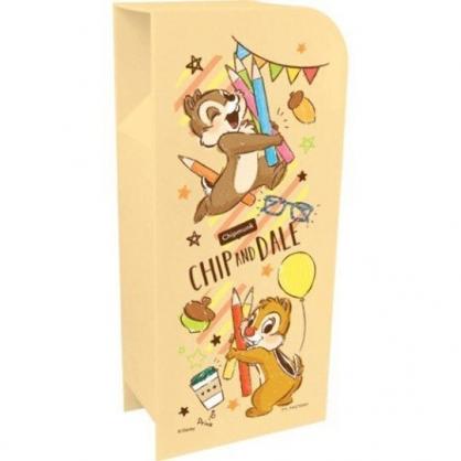 〔小禮堂〕迪士尼 奇奇蒂蒂 桌上型四層直式收納盒《橘.色鉛筆》置物盒.筆筒.刷具筒