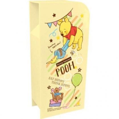 〔小禮堂〕迪士尼 小熊維尼 桌上型四層直式收納盒《黃.拿蠟筆》置物盒.筆筒.刷具筒