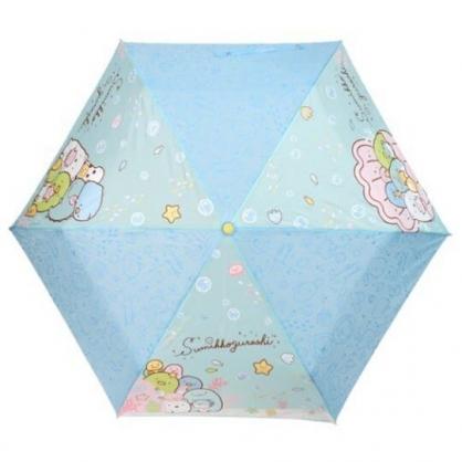 〔小禮堂〕角落生物 彎把防風傘骨折疊傘《藍黃.海底世界》折傘.雨具.雨傘