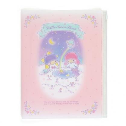 〔小禮堂〕雙子星 雙開式文件夾《A4.粉藍.雲朵上》資料夾.檔案夾.L夾