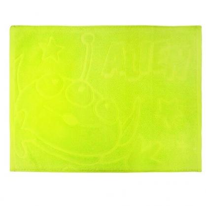 〔小禮堂〕迪士尼 三眼怪 毛巾腳踏墊《綠.大臉》45x60cm.浴墊.地墊