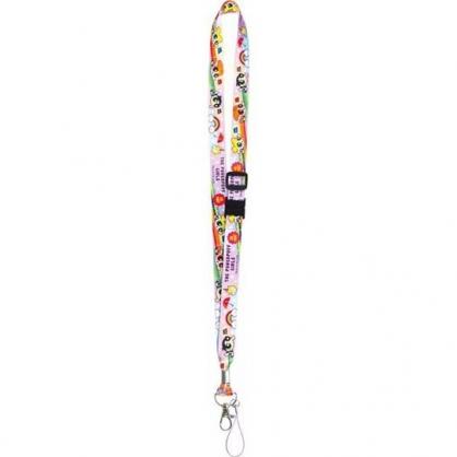 〔小禮堂〕飛天小女警 多功能頸繩《紫.彩虹》掛飾.頸掛繩.證件帶