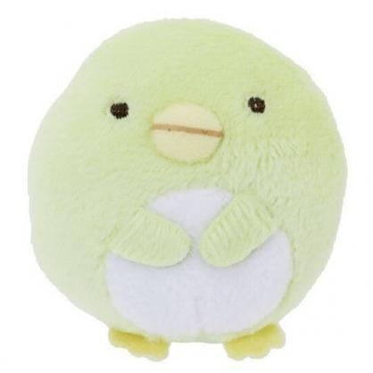 〔小禮堂〕角落生物 企鵝 迷你絨毛玩偶娃娃胸針《綠》造型別針.胸章