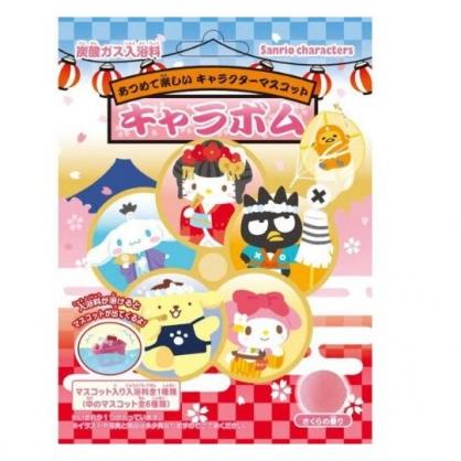 〔小禮堂〕Sanrio大集合 造型入浴球《6款隨機.紅.江戶》入浴劑.泡澡球