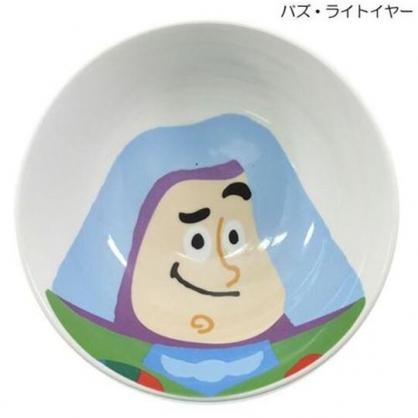 〔小禮堂〕迪士尼 玩具總動員 巴斯光年 陶瓷碗《白.大臉》200ml.飯碗.湯碗