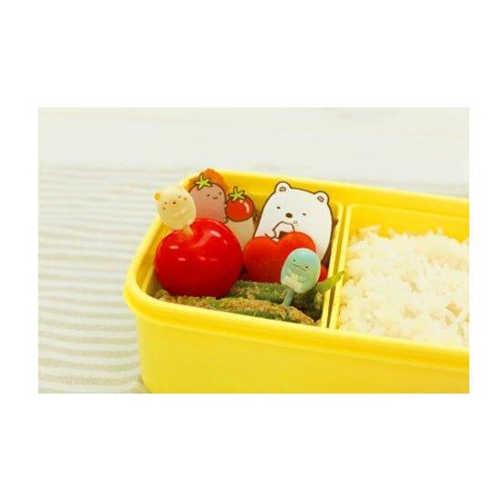 〔小禮堂〕角落生物 全身造型塑膠食物裝飾叉組《6入.白綠》甜點叉.水果叉