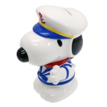 〔小禮堂〕史努比 全身造型陶瓷存錢筒《藍白.水手服》擺飾.撲滿.儲金筒