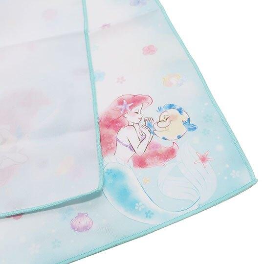 〔小禮堂〕迪士尼 小美人魚 棉質便當包巾《綠白.牽手》43x43cm.手帕.餐巾.桌巾