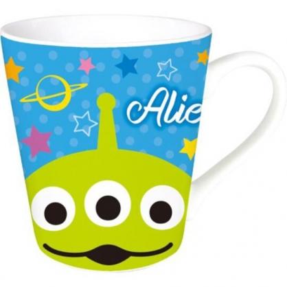 〔小禮堂〕迪士尼 三眼怪 陶瓷馬克杯《綠藍.大臉》咖啡杯.茶杯