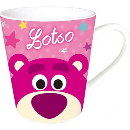 〔小禮堂〕迪士尼 熊抱哥 陶瓷馬克杯《桃粉.大臉》咖啡杯.茶杯