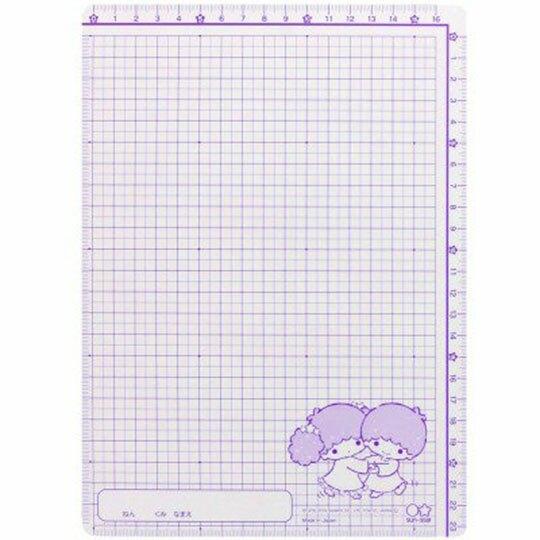 〔小禮堂〕雙子星 日製硬墊板《B5.綠粉.盪鞦韆》桌墊.學童文具
