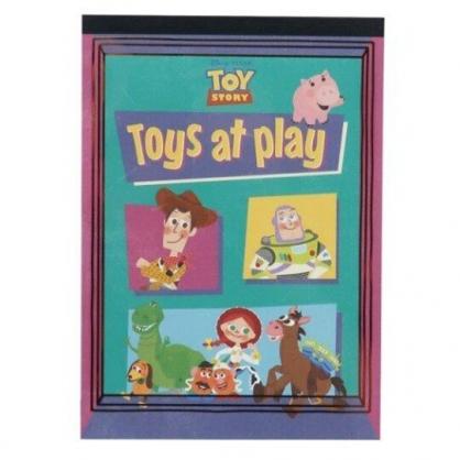 〔小禮堂〕迪士尼 玩具總動員 日製便條本《綠紫.格圖》便條紙.留言紙.信紙