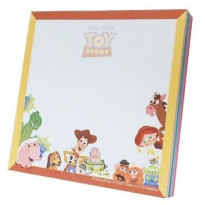 〔小禮堂〕迪士尼 玩具總動員 日製方形自黏便利貼《黃藍.圍繞》N次貼.標籤貼